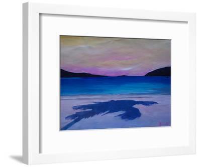 Caribbean Beach Palm In Soft Evening Light-M Bleichner-Framed Art Print