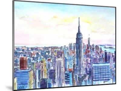 Nyc Manhattan Skyline Neu-M Bleichner-Mounted Art Print