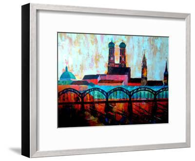 Munchen Central station-M Bleichner-Framed Art Print