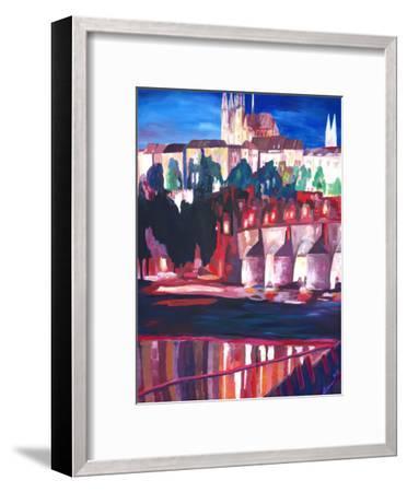 Prague - Hradschin With Charles Bridge-M Bleichner-Framed Art Print