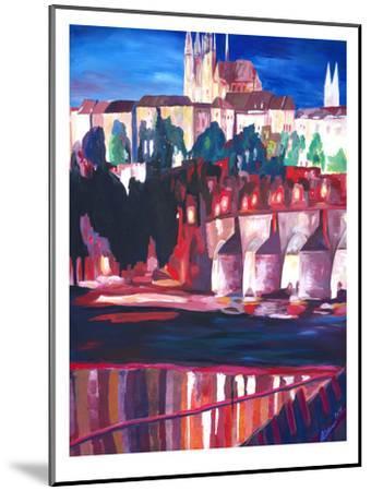 Prague - Hradschin With Charles Bridge-M Bleichner-Mounted Art Print