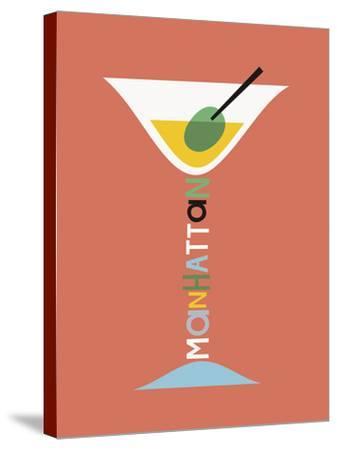 Stylish Cocktails - Manhattan-Sophie Ledesma-Stretched Canvas Print