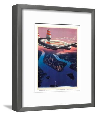 Manhattan, New York USA - TWA (Trans World Airlines)-Frank Soltesz-Framed Art Print