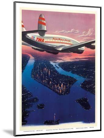 Manhattan, New York USA - TWA (Trans World Airlines)-Frank Soltesz-Mounted Art Print