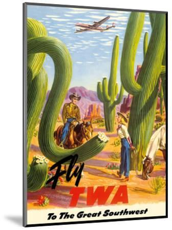 To the Great Southwest - Fly TWA Trans World Airlines-Frank Soltesz-Mounted Art Print