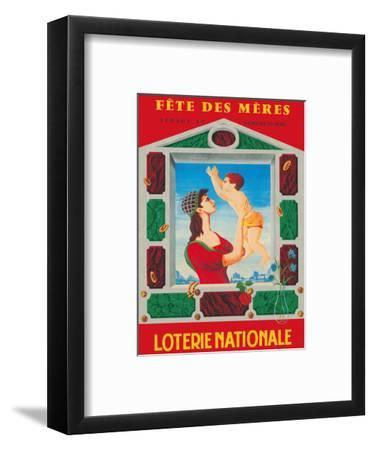 Fete des Meres (Mothers' Day) - French National Lottery-F^ Lesourt-Framed Art Print
