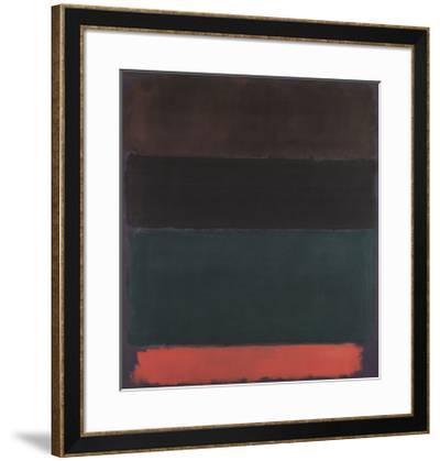 Red-Brown, Black, Green, Red-Mark Rothko-Framed Art Print