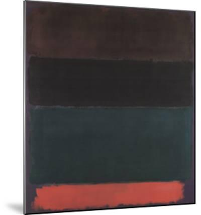 Red-Brown, Black, Green, Red-Mark Rothko-Mounted Art Print