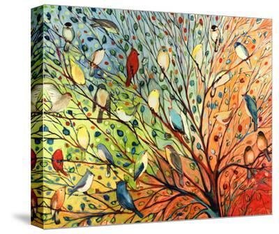 27 Birds-Jennifer Lommers-Stretched Canvas Print