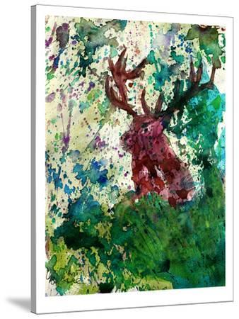 Party Deer-M Bleichner-Stretched Canvas Print