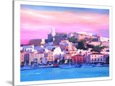 Ibiza Old Town And Harbour Pearl Of The Mediterranean-M Bleichner-Stretched Canvas Print