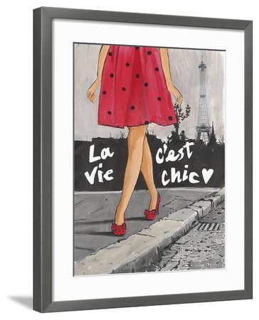 Polka Dot Paris II-Juliette McGill-Framed Giclee Print