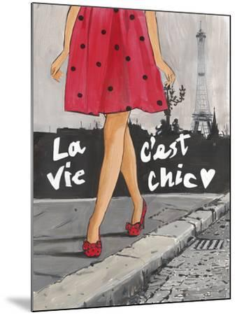 Polka Dot Paris II-Juliette McGill-Mounted Giclee Print