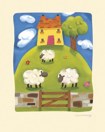 Yellow Farmhouse-Sophie Harding-Framed Giclee Print