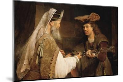 Ahimelech Giving the Sword of Goliath to David-Aert de Gelder-Mounted Art Print