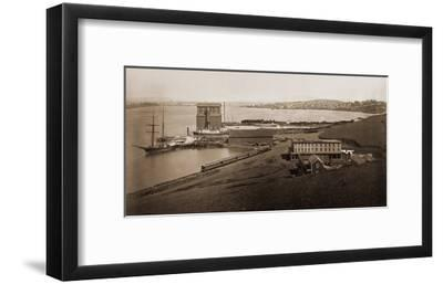 City of Vallejo, California, from South Vallejo, 1870-Carleton Watkins-Framed Art Print