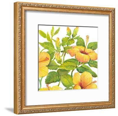 Watercolor Hibiscus II-Tim OToole-Framed Art Print