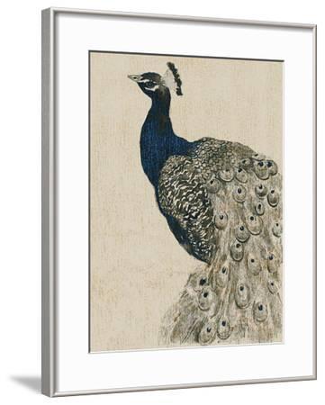 Textured Peacock II-Grace Popp-Framed Giclee Print