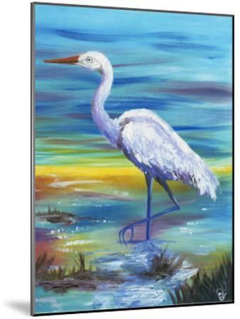 Yellow Heron II-Olivia Brewington-Mounted Art Print