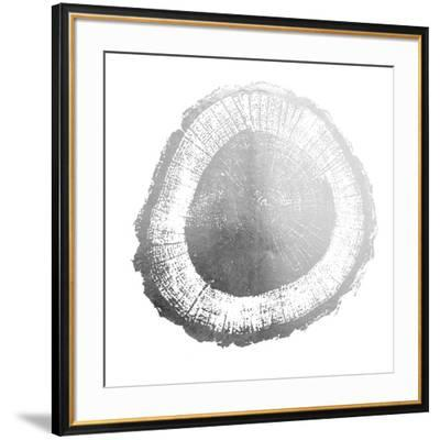 Silver Foil Tree Ring II-Vision Studio-Framed Art Print