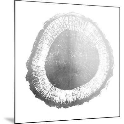 Silver Foil Tree Ring II-Vision Studio-Mounted Art Print