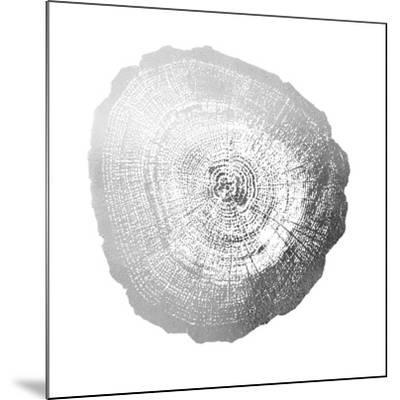 Silver Foil Tree Ring IV-Vision Studio-Mounted Art Print
