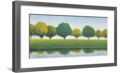 Trees in a Line I-Tim OToole-Framed Art Print