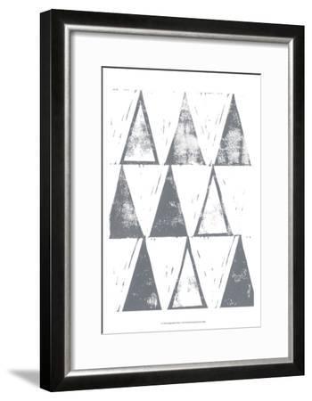 Triangle Block Print I-Grace Popp-Framed Art Print