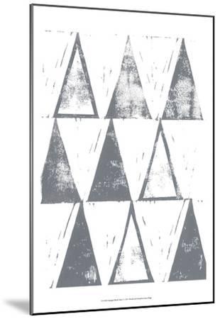 Triangle Block Print I-Grace Popp-Mounted Art Print