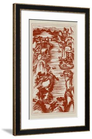 Chinese Bird's-eye View in Red II-Vision Studio-Framed Giclee Print