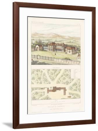 Habitations Modernes I-A^ Morel-Framed Giclee Print