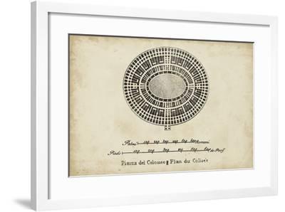 Plan for the Colosseum--Framed Giclee Print