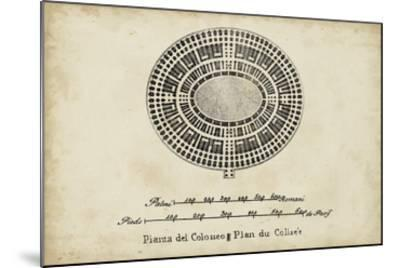 Plan for the Colosseum--Mounted Giclee Print