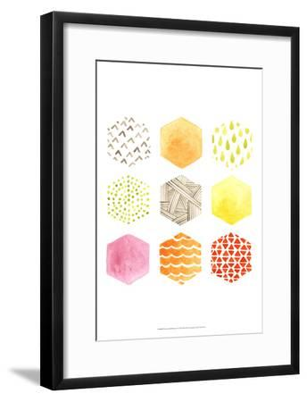 Honeycomb Patterns I-June Vess-Framed Art Print