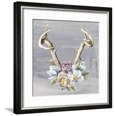 Antlers & Flowers I-Grace Popp-Framed Art Print