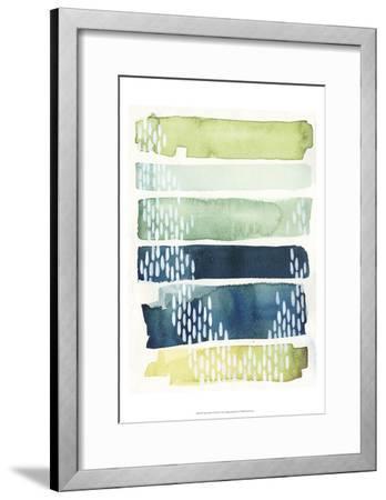 Aqua Streak II-Grace Popp-Framed Art Print