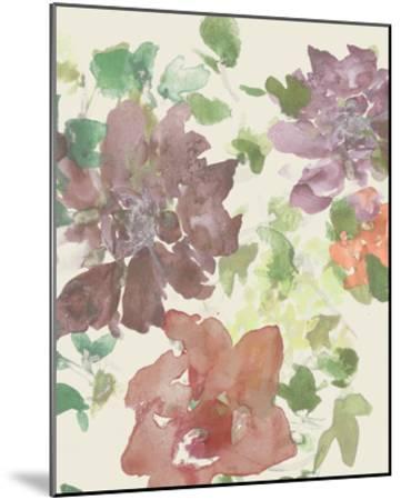 Fuchsia Inked Blooms II-Studio W-Mounted Art Print