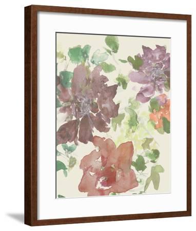Fuchsia Inked Blooms II-Studio W-Framed Art Print