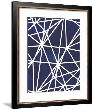 Indigo Pattern I-Grace Popp-Framed Art Print