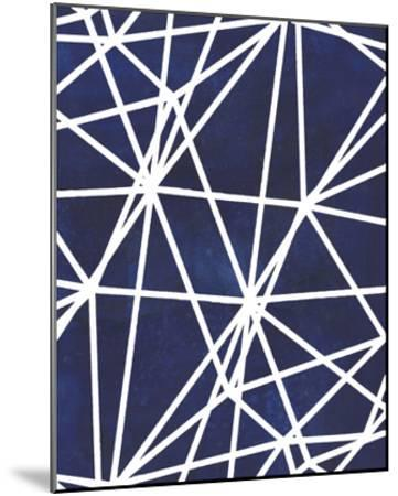 Indigo Pattern I-Grace Popp-Mounted Art Print