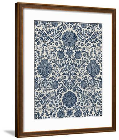 Baroque Tapestry in Navy I-Vision Studio-Framed Giclee Print
