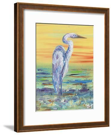 Egret Sunset I-Olivia Brewington-Framed Art Print
