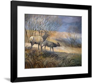 Elk Journey I-B^ Lynnsy-Framed Art Print