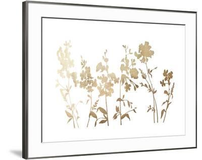 Gold Foil Flower Field-Vision Studio-Framed Art Print