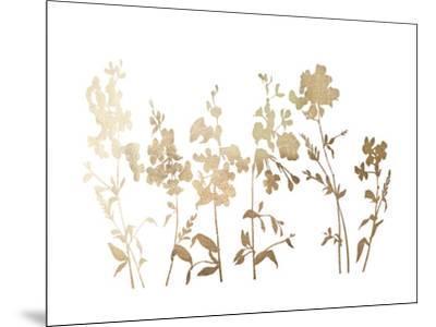 Gold Foil Flower Field-Vision Studio-Mounted Art Print