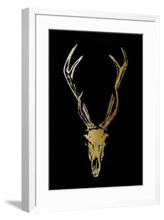 Gold Foil Rustic Mount I on Black-Vision Studio-Framed Art Print