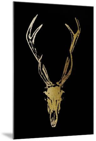 Gold Foil Rustic Mount I on Black-Vision Studio-Mounted Art Print