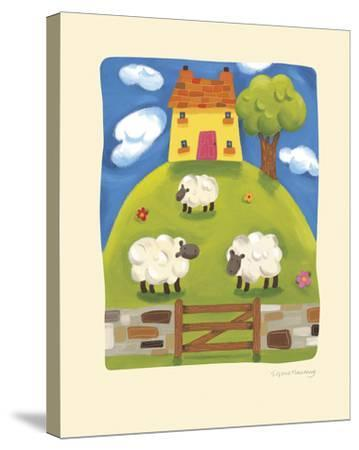 Yellow Farmhouse-Sophie Harding-Stretched Canvas Print