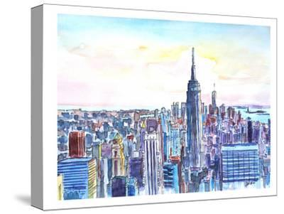 Nyc Manhattan Skyline Neu-M Bleichner-Stretched Canvas Print