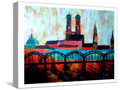 Munchen Central station-M Bleichner-Stretched Canvas Print